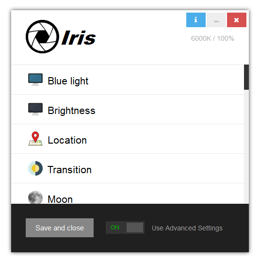 💡💻 Iris - Software for Eye protection, Health and