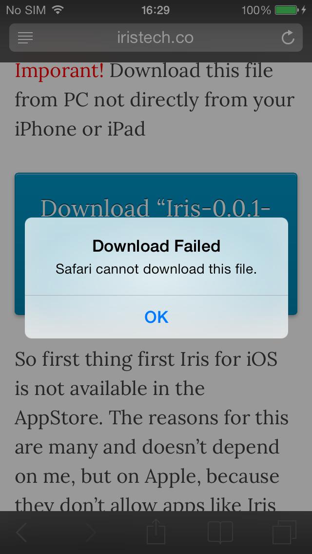Download Failed On Ipad