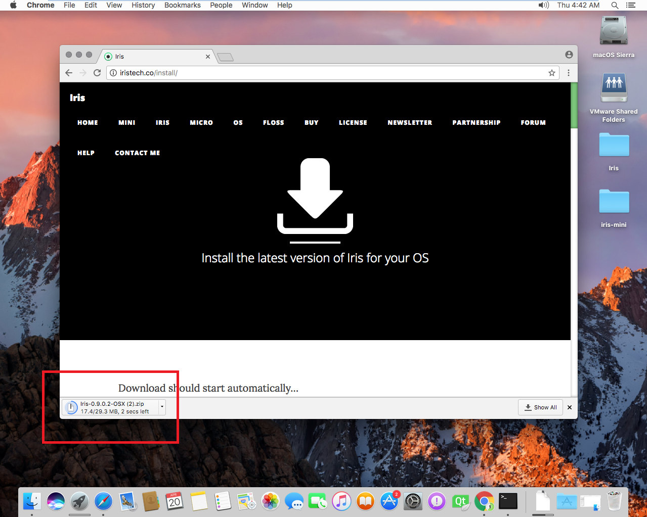 How To Download Iris With Chrome On Mac Osx How To Download Iris With  Chrome On