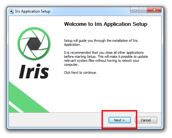 install-next-iris-windows-7