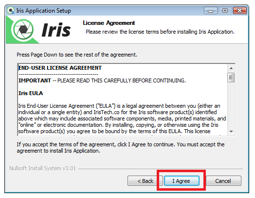 iris-application-setup-eula