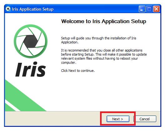 iris-application-setup-xp