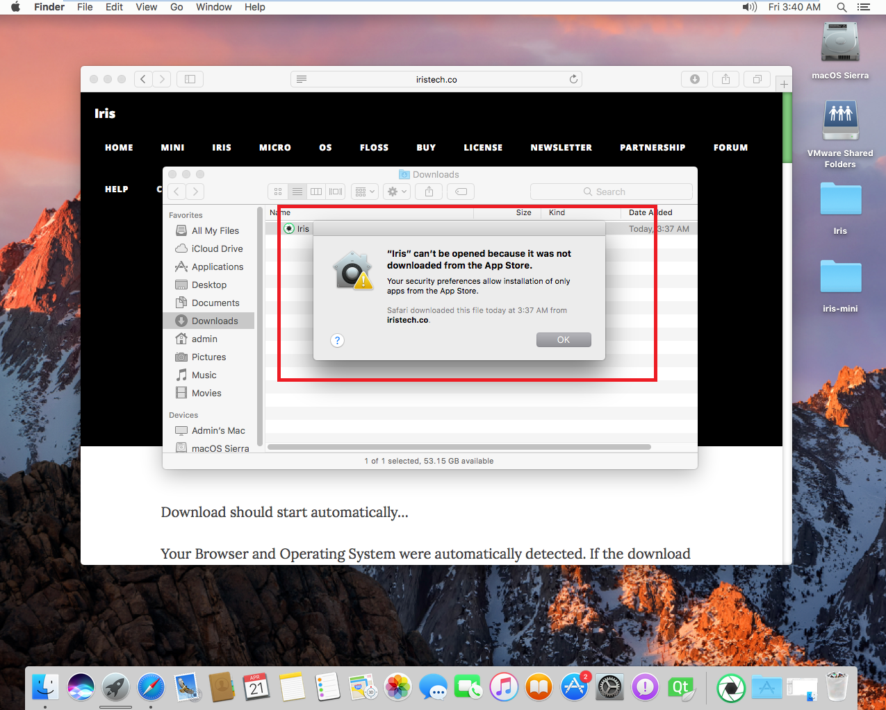 how to allow apps from unidentified developers mac sierra