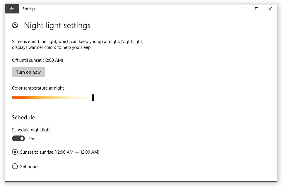 Night light Review (Windows) - 💡💻 Iris - Software for Eye