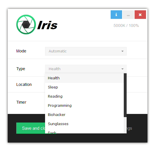 Eye Protection Software - Iris