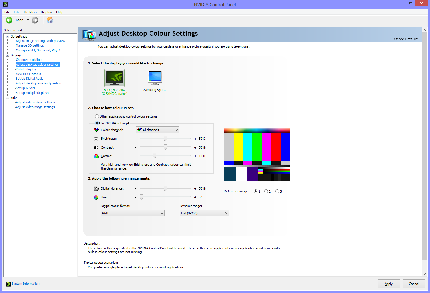 RGB Settings and Monitor Color Configuration